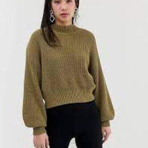 ASOS Monki Chunky Knit Balloon Sleeve Sweater S